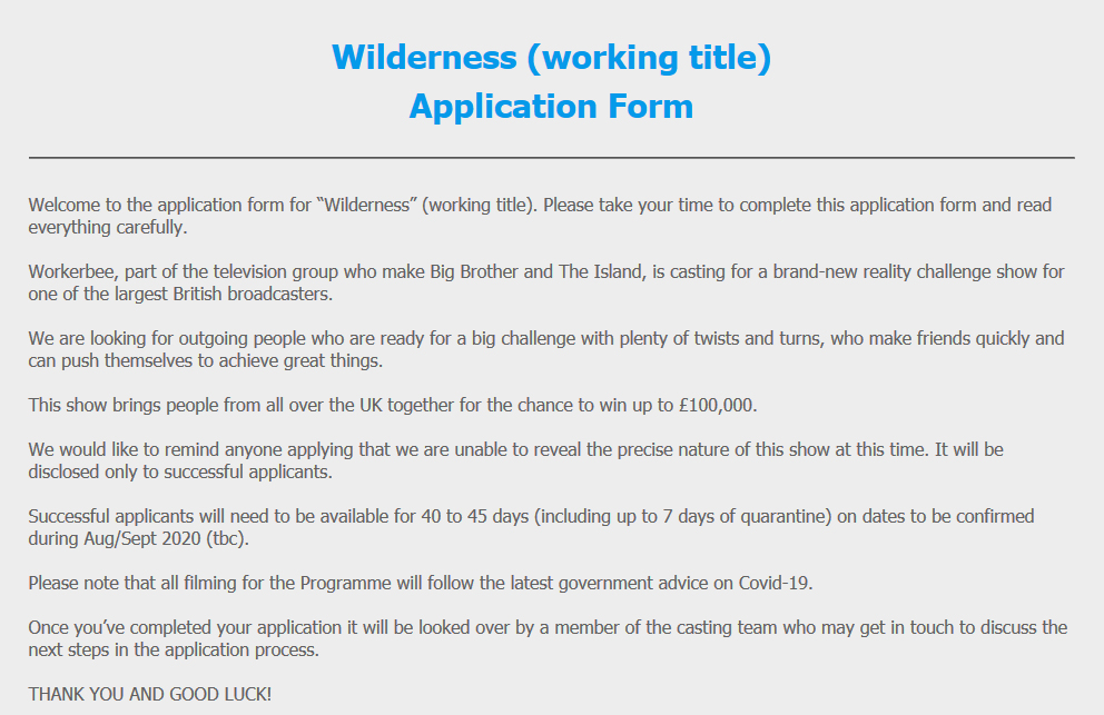 Wilderness Casting